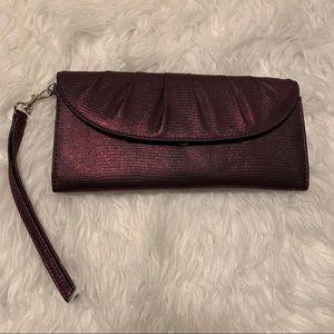 Shimmer Purple Clutch